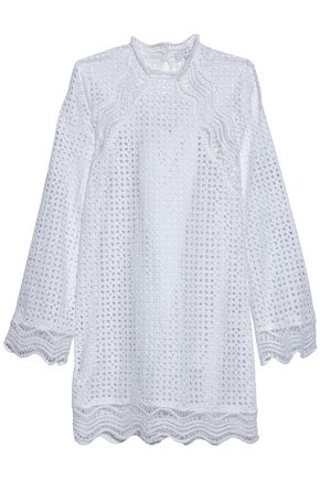 IRO Scalloped broderie anglaise cotton mini dress