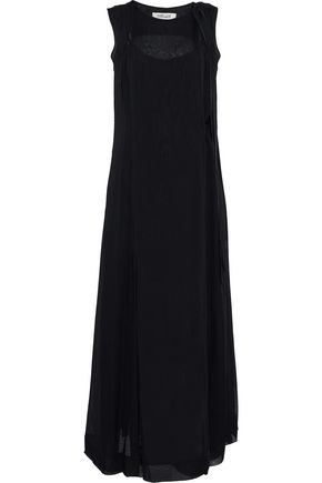 DIANE VON FURSTENBERG Layered silk-chiffon wrap maxi dress