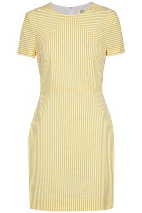 DIANE VON FURSTENBERG Striped seersucker mini dress