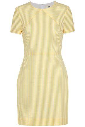 DIANE VON FURSTENBERG Striped seersucker mini dress