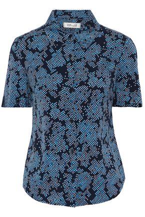 DIANE VON FURSTENBERG Printed silk-blend crepe de chine shirt