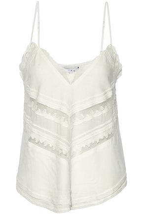 IRO Cloriane lace-trimmed voile camisole