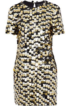 RACHEL ZOE Sequined cotton-jersey mini dress
