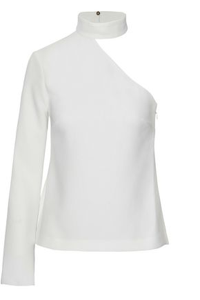 RACHEL ZOE One-shoulder crepe top
