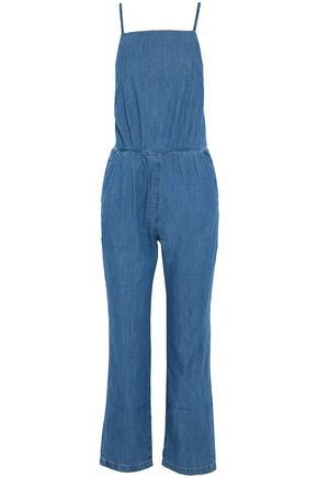 3x1 Open-back denim jumpsuit
