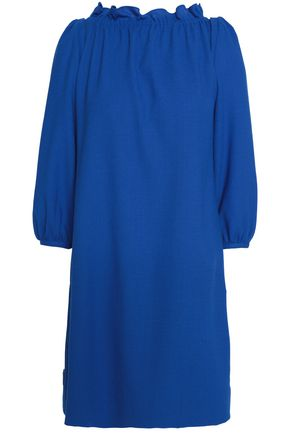 Goat Woman Braid-detailed Wool-crepe Top Royal Blue Size 12 Goat