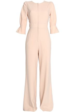 GOAT Flared wool-crepe jumpsuit