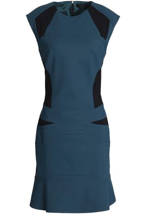 BELSTAFF Fluted two-tone scuba dress