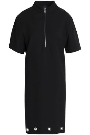 BELSTAFF Eyelet-embellished stretch-cotton twill dress