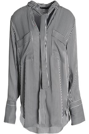 BELSTAFF Draped striped satin blouse
