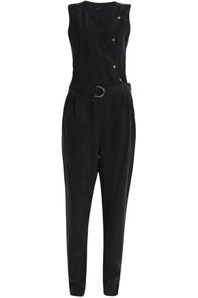 BELSTAFF Belted canvas jumpsuit