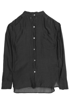 ISABEL MARANT ÉTOILE Cotton and silk-blend mousseline shirt
