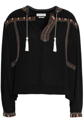 ISABEL MARANT ÉTOILE Embroidered crepe blouse