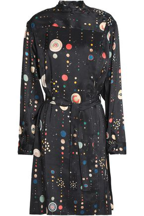 ISABEL MARANT Belted printed silk crepe de chine dress