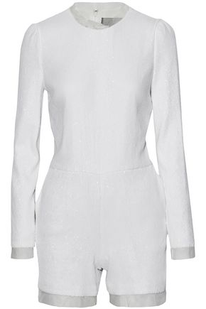 RACHEL ZOE Sequined chiffon playsuit