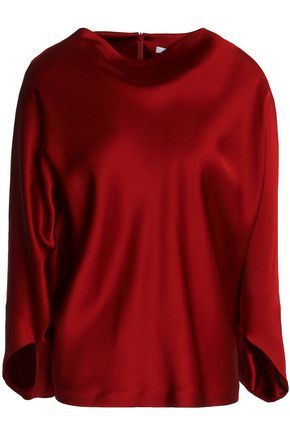 CHALAYAN Draped satin blouse