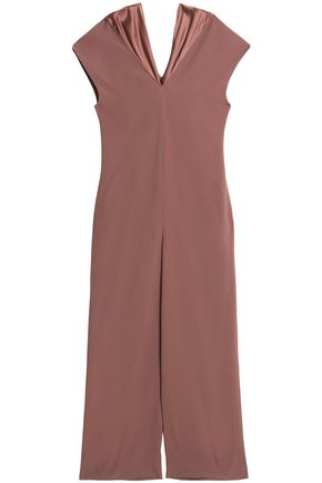 CHALAYAN Gathered crepe-satin jumpsuit