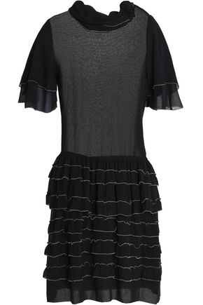 ISABEL MARANT Tiered ruffled silk-georgette mini dress