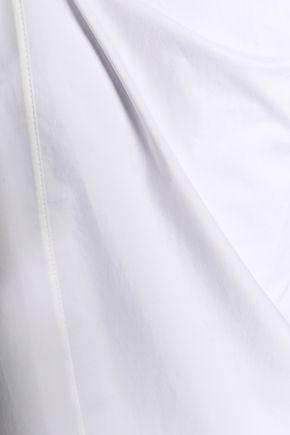 MARNI Gathered cotton-poplin top