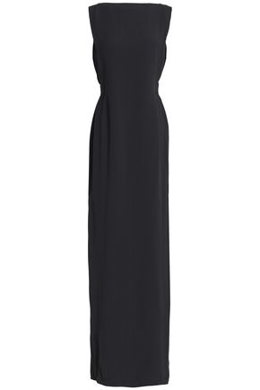 CHALAYAN Draped bead-embellished crepe gown