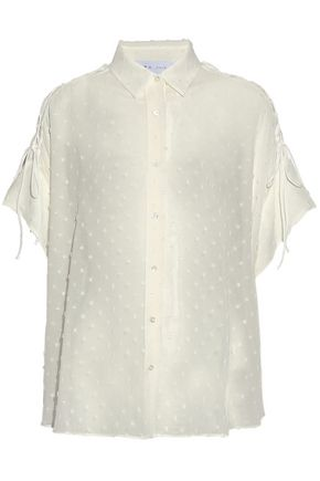 IRO Zander lace-up fil coupé gauze shirt