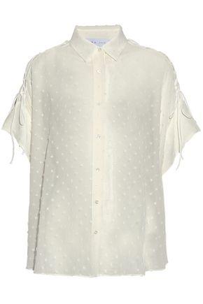 IRO Zander lace-up fil coupé gauze shirt