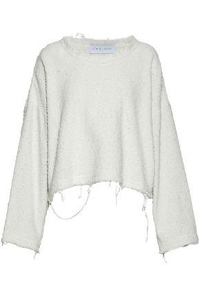 IRO Frayed cotton-blend sweater