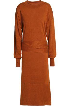 ISABEL MARANT ÉTOILE Belted mélange linen-jersey dress
