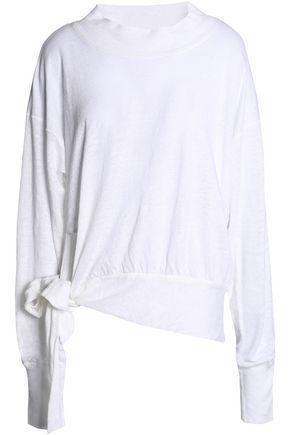 ISABEL MARANT ÉTOILE Knotted slub linen-jersey top