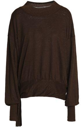ISABEL MARANT ÉTOILE Mélange linen-jersey top