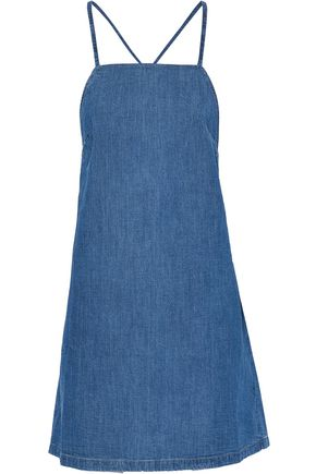 3x1 Open-back denim mini dress