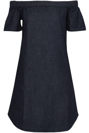 3x1 Off-the-shoulder denim mini dress