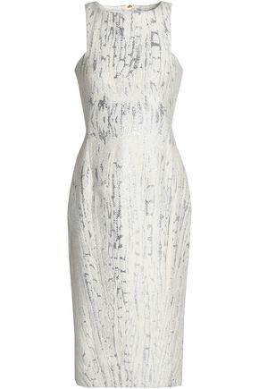 AMANDA WAKELEY Metallic jacquard dress