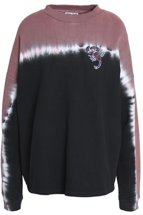 OPENING CEREMONY Appliquéd tie-dye cotton-terry sweatshirt