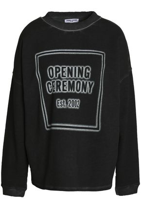 OPENING CEREMONY Printed cotton-terry sweatshirt