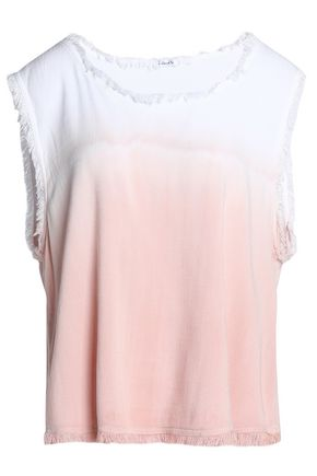 SPLENDID Frayed dégradé jersey top