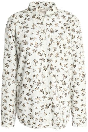 CURRENT/ELLIOTT Floral-print linen and cotton-blend gauze shirt