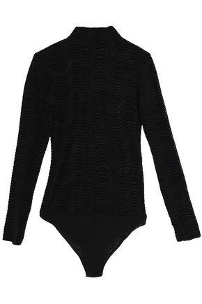 OPENING CEREMONY Devoré-velvet bodysuit