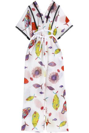 EMILIO PUCCI Printed gauze maxi dress