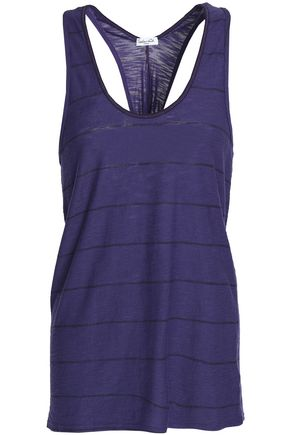 SPLENDID Striped slub Micro Modal and Supima cotton-blend tank