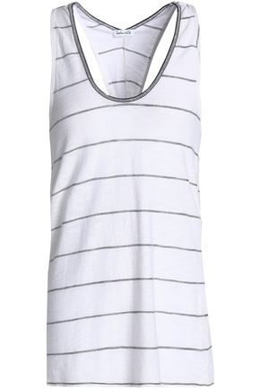 SPLENDID Striped slub-jersey tank