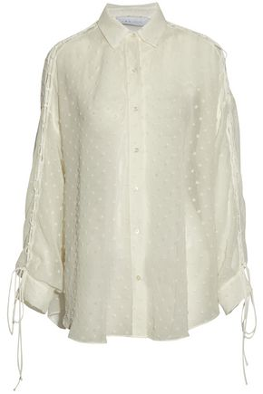 IRO Lace-up fil coupé gauze shirt