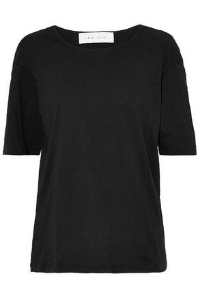 IRO Ring-embellished slub stretch-jersey top