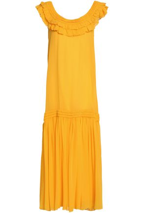 OPENING CEREMONY Ruffled silk-chiffon maxi dress