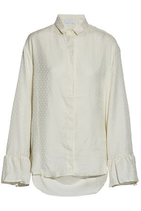 IRO Open-back jacquard shirt