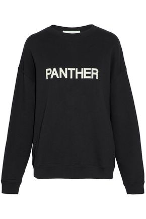 IRO Embroidered cotton-terry sweatshirt