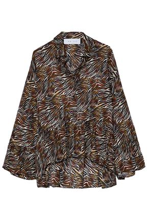 IRO Printed silk-chiffon blouse
