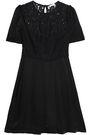 CLAUDIE PIERLOT Rejane embroidered mesh and cotton-blend ponte mini dress