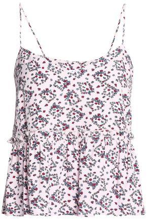 CLAUDIE PIERLOT Floral-print crepe top