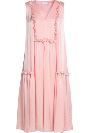 CLAUDIE PIERLOT Ruffle-trimmed jacquard dress